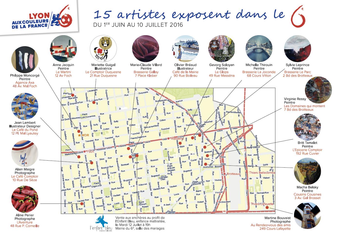 Parcours des Bleus - Lyon 6e